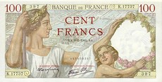 100 Francs Sully