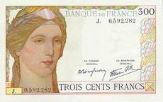 300 Francs Cérès et Mercure