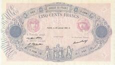500 Francs Rose et Bleu